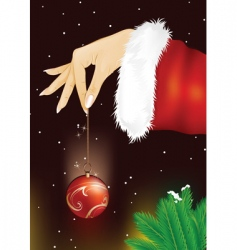 hand with bauble vector image