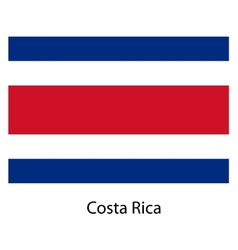 Flag of the country costa rica vector