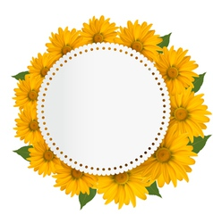 Celebration background with yellow flowers vector