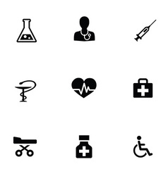 Medical 9 icons set vector