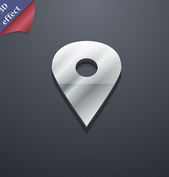 Map pointer gps location icon symbol 3d style vector