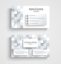 Modern business card with abstract square template vector