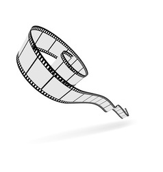 3d film strip cut vector