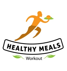 Healthy meals v2 design vector