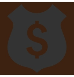 Financial shield flat icon vector