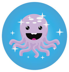 Octopus icon app mobile flat vector