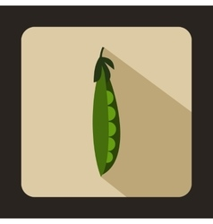 Fresh green peas icon flat style vector
