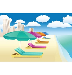 beach lounger vector image vector image