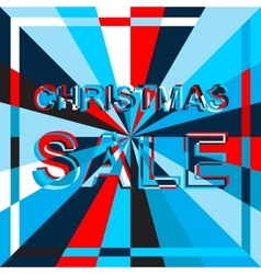 Big ice sale poster with christmas sale text vector