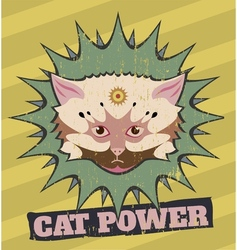 Cat power vector image
