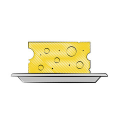 cheese slice icon imag vector image vector image
