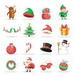 christmas new year winter holiday xmas isolated vector image vector image