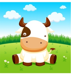 Cow in farm vector image vector image