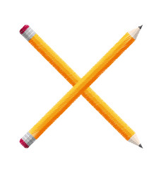 crossed pencils school icon vector image