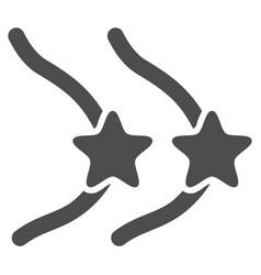 Female breast censorship stars flat icon vector