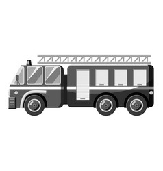 Fire truck icon gray monochrome style vector