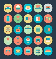 Furniture icons 1 vector