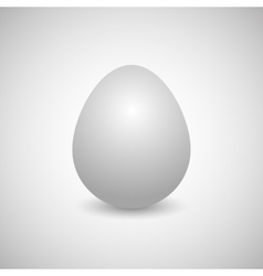 Icon egg vector image