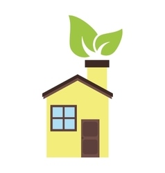 Isolated eco house design vector