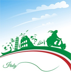 Italian holidays background vector image