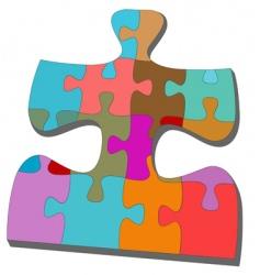 jigsaw pieces vector image vector image