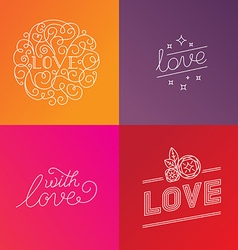Love lettering vector image vector image