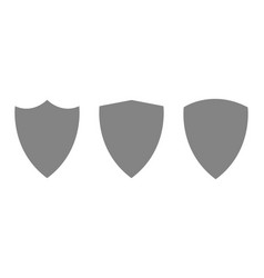 Modern guard shield icons set security vector