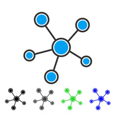 Network links flat icon vector