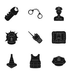 Police equipment police prisoners protection of vector
