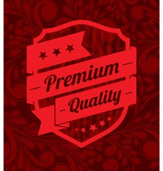 Premium label design over floral background vector image vector image