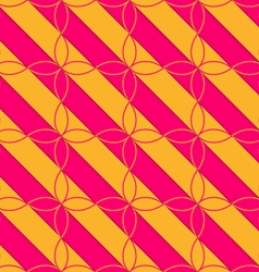 Retro 3D pink and orange diagonal with four foils vector image vector image