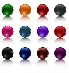 set of different balls vector image vector image