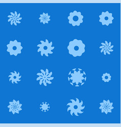 Set of graphic floral or snowflakes elements vector