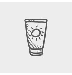 Summer beach glass sketch icon vector