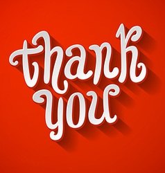 Thank you hand lettering for your design vector image vector image
