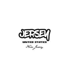 United states jersey new jersey city graffitti vector