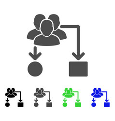 User routing scheme flat icon vector