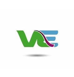 VE logo vector image vector image