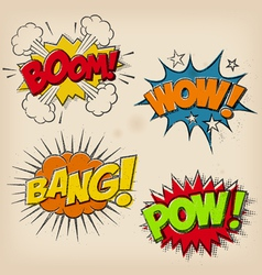 Grunge Cartoon Sound Effects Set 1 vector image