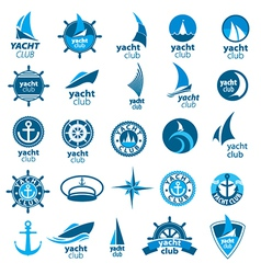 Biggest collection of logos marina vector