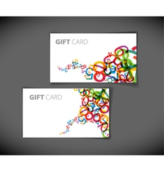 Abstract numbers gift card vector