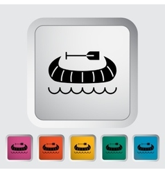 Canoe icon vector