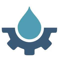Water service icon vector