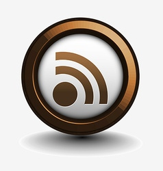Rss icon design vector