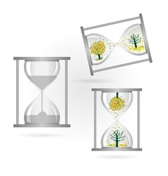 Tree and sandglass vector