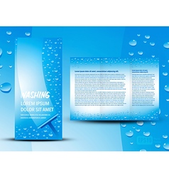 brochure folder washing design cmyk no transparen vector image