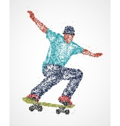 Abstract skateboarder athlete vector image