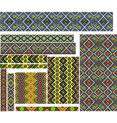 Set of Colorful Patterns for Embroidery Stitch vector image