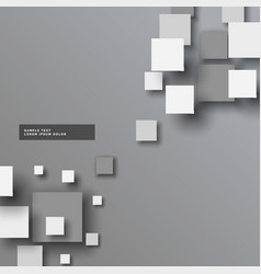 Abstract gray 3d squares background vector