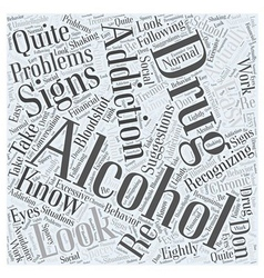 Alcohol and drug addiction word cloud concept vector